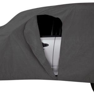 Driver-side door access zipper
