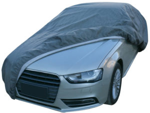 Leader Accessories Platinum Guard 7 Layer Universal Sedan Cover with Cotton Outdoor Indoor Use Gray Cars up to 131